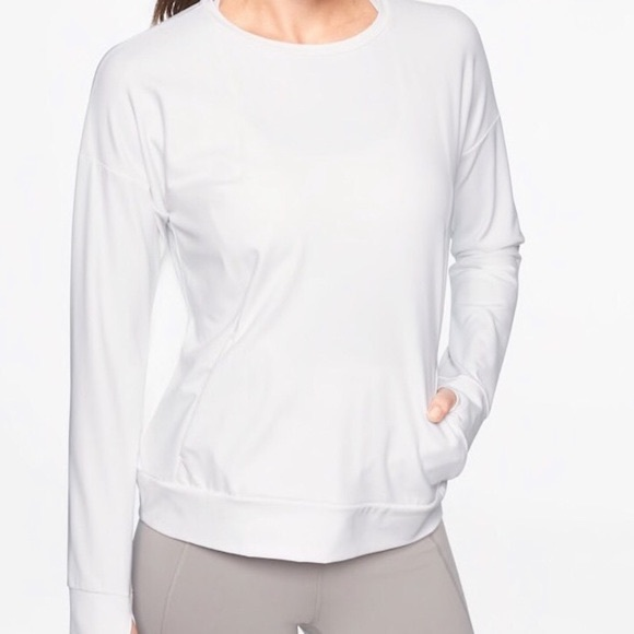 Athleta inversion sweatshirt white 1x